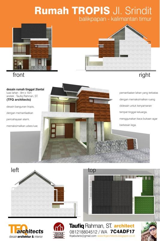 Desain Rumah Tropis di Jalan Srindit Balikpapan Kalimantan Timur