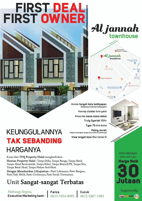 brosur Al Jannah Town Hose Balikpapan