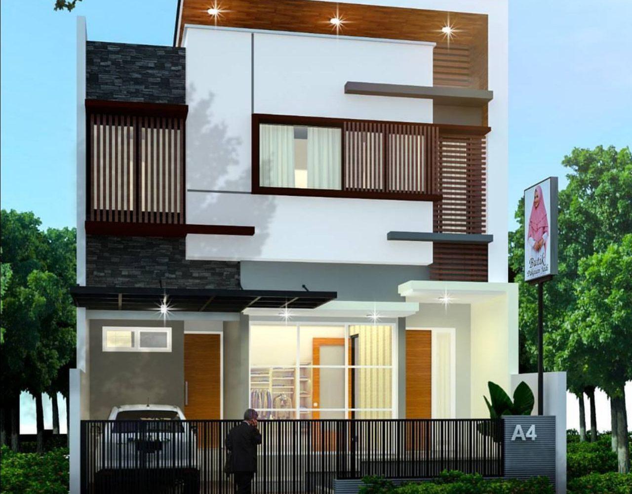Desain Rumah Tinggal 2 Lantai Balikpapan