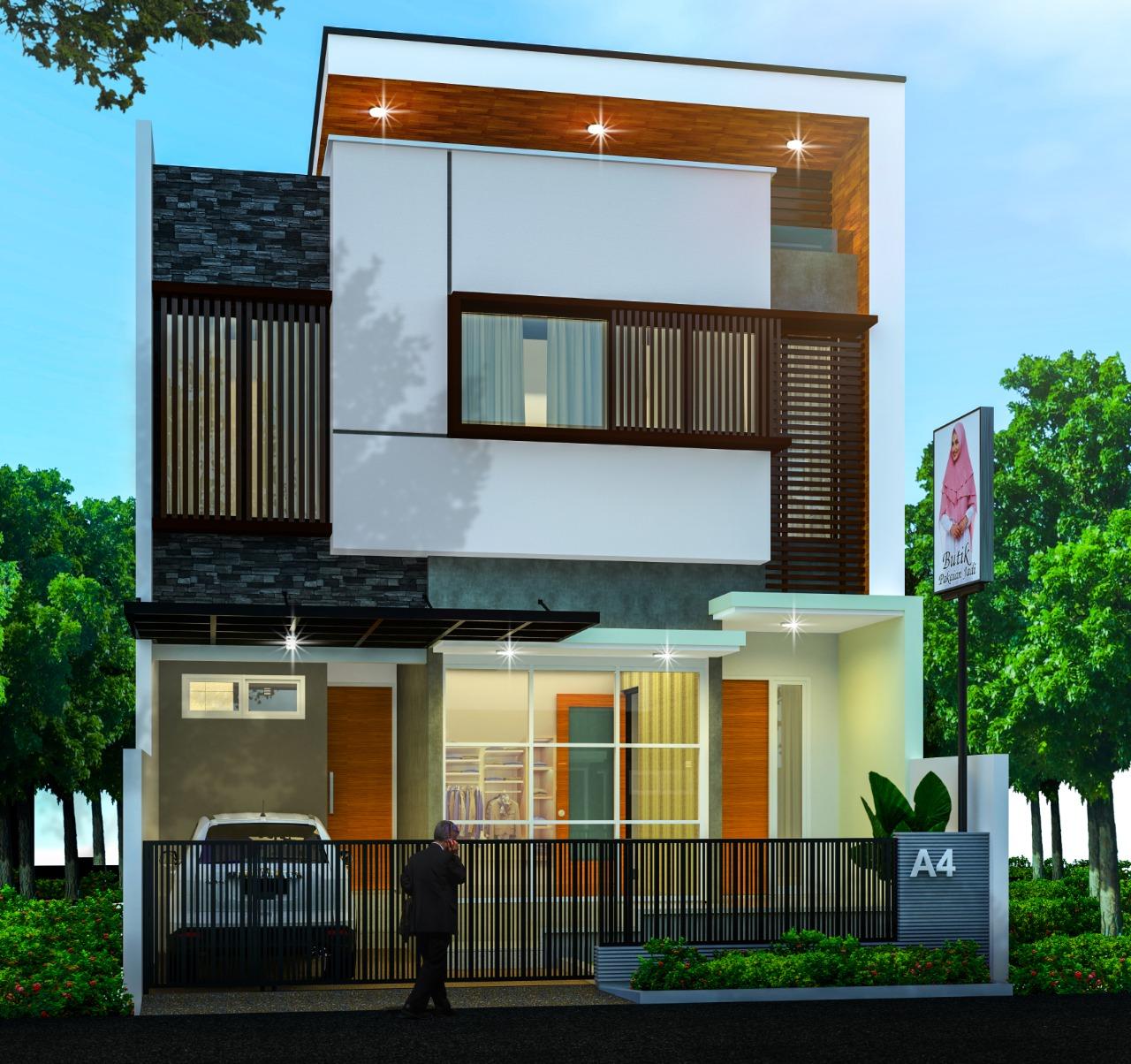 Desain Rumah Tinggal 2 Lantai Madani